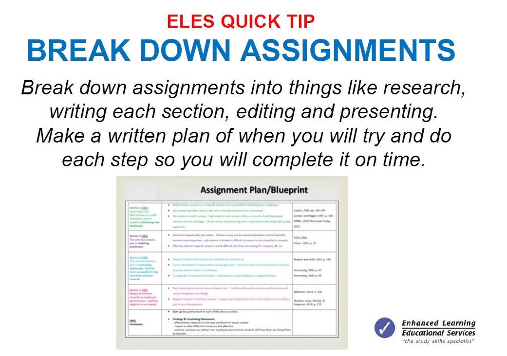 Break down assignments