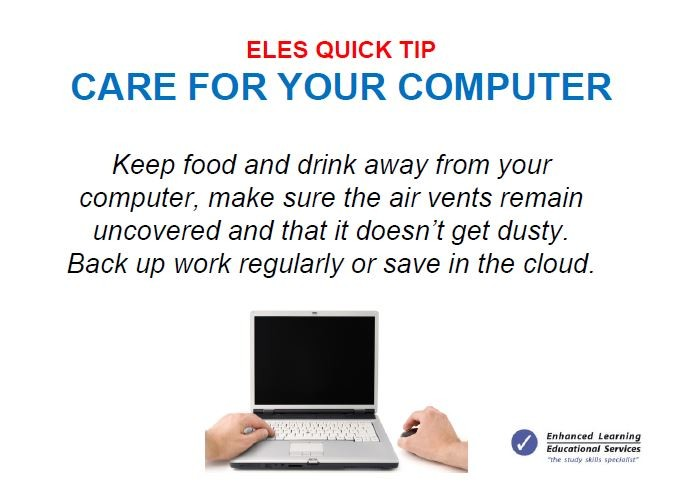 Care for your computer