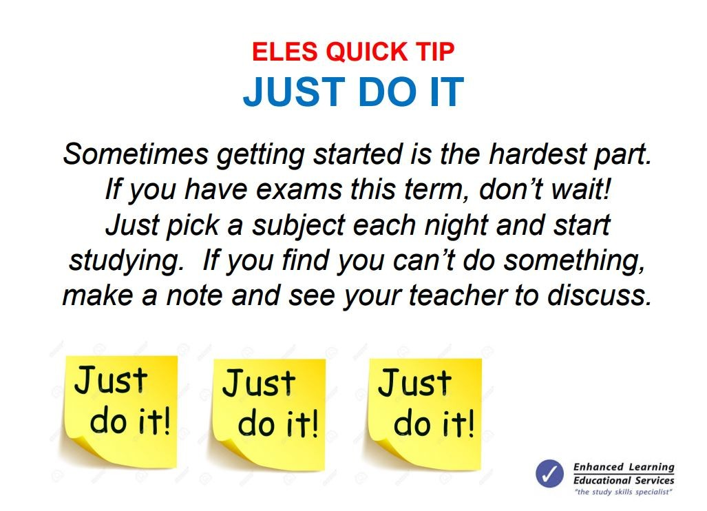 Study tip of the week
